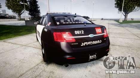 Ford Taurus 2013 Georgia Police [ELS] für GTA 4 hinten links Ansicht