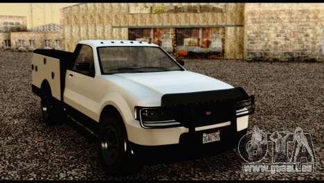 Utility Van from GTA 5 pour GTA San Andreas vue arrière