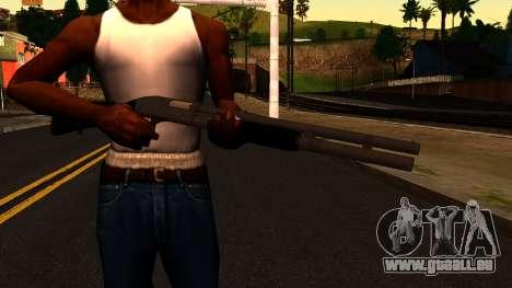 Noir MP-133 Silver pour GTA San Andreas troisième écran