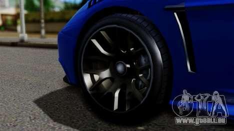 GTA 5 Dewbauchee Massacro Racecar pour GTA San Andreas sur la vue arrière gauche