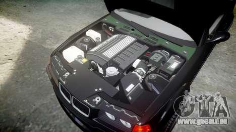 BMW E36 M3 Duck Edition pour GTA 4 est une vue de l'intérieur