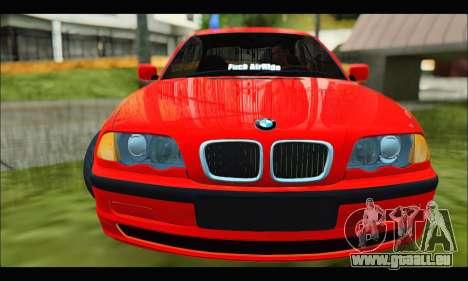 BMW e46 Sedan V2 pour GTA San Andreas laissé vue