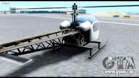Beta Sparrow pour GTA San Andreas sur la vue arrière gauche