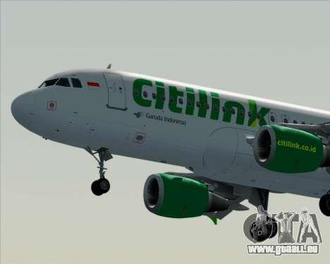 Airbus A320-200 Citilink für GTA San Andreas Unteransicht