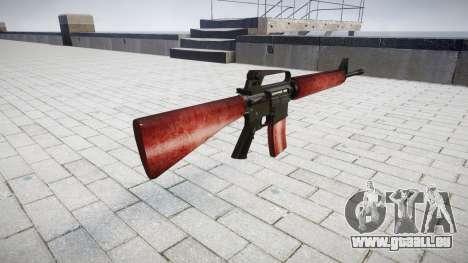 Le M16A2 fusil rouge pour GTA 4 secondes d'écran