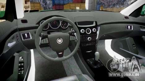 Cadillac CTS-V 2010 für GTA 4 Rückansicht