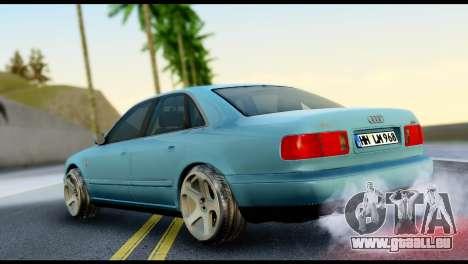 Audi A8 2002 pour GTA San Andreas laissé vue