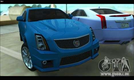 Cadillac CTS-V Coupe pour GTA San Andreas laissé vue