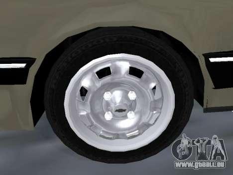 Chevrolet Chevette Hatch für GTA San Andreas Unteransicht