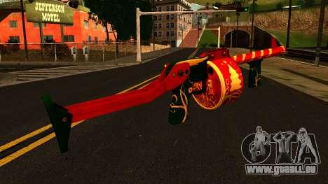 Weihnachten Shotgun für GTA San Andreas zweiten Screenshot