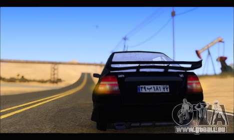 Kia Pride 141 Tuning pour GTA San Andreas sur la vue arrière gauche