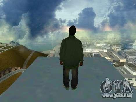 Ryder Skin Grove St. Family für GTA San Andreas zweiten Screenshot