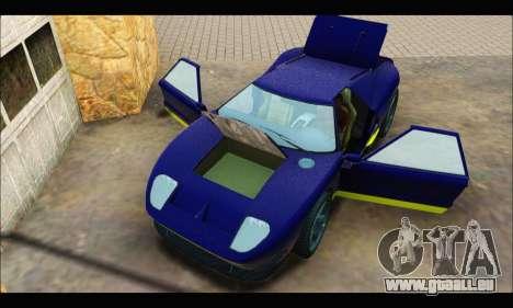 Vapid Bullet Gt (GTA IV) (LC Plate) pour GTA San Andreas vue arrière