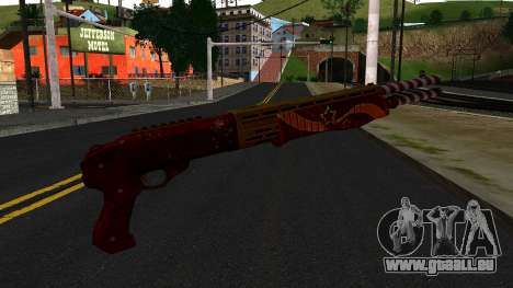 Noël Fusil De Combat pour GTA San Andreas deuxième écran