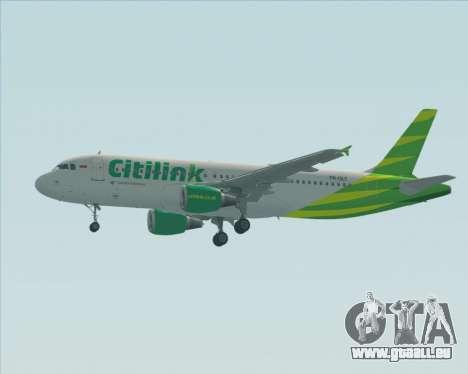 Airbus A320-200 Citilink für GTA San Andreas obere Ansicht