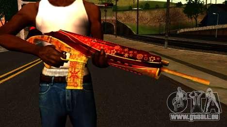 La Veille du nouvel An, un Fusil d'Assaut pour GTA San Andreas troisième écran