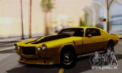 Chevrolet Camaro Mk.II für GTA San Andreas