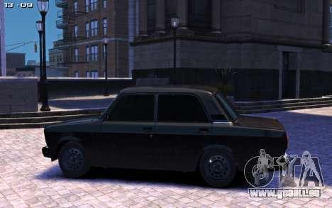 VAZ 2107 pour GTA 4 Vue arrière de la gauche
