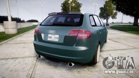 Audi RS3 Stanced für GTA 4 hinten links Ansicht