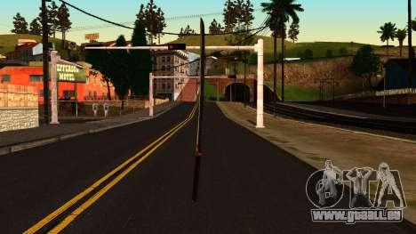 Katana from Shadow Warrior pour GTA San Andreas deuxième écran