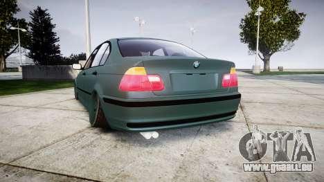 BMW E46 M3 2000 pour GTA 4 Vue arrière de la gauche