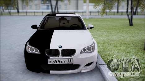 BMW M5 E60 für GTA San Andreas zurück linke Ansicht