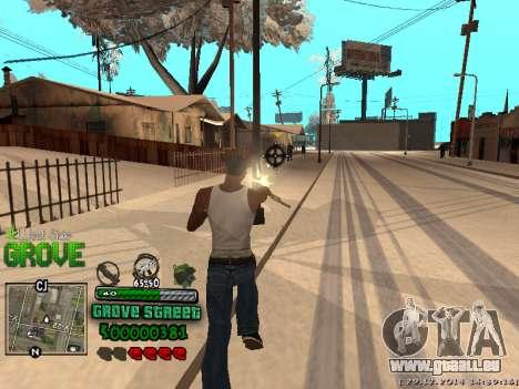 C-HUD Grove Street für GTA San Andreas zehnten Screenshot