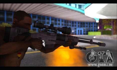 Raab KM50 Sniper Rifle From F.E.A.R. 2 pour GTA San Andreas cinquième écran