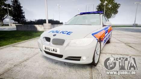 BMW 325d E91 2010 Metropolitan Police [ELS] für GTA 4