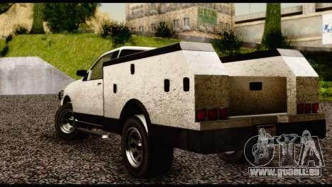 Utility Van from GTA 5 pour GTA San Andreas laissé vue