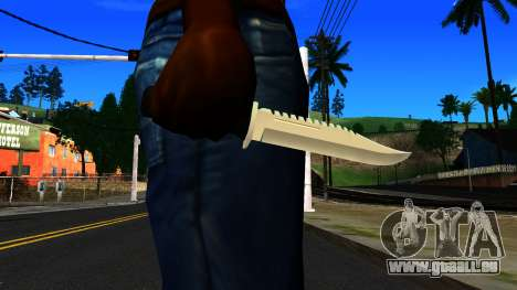 Knife from GTA 4 pour GTA San Andreas troisième écran