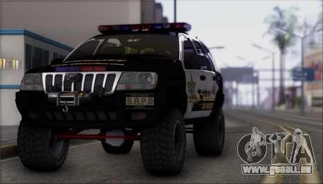 Jeep Grand Cherokee 1999 Sheriff für GTA San Andreas rechten Ansicht
