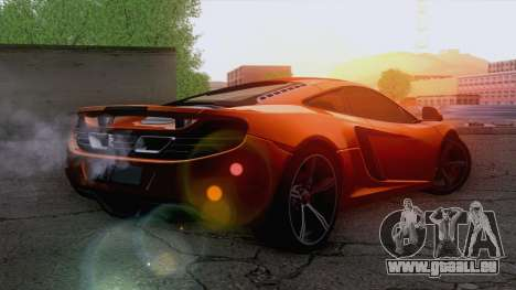 McLaren MP4-12C Gawai v1.5 pour GTA San Andreas laissé vue