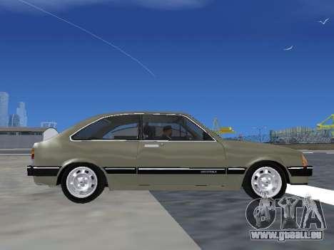 Chevrolet Chevette Hatch pour GTA San Andreas vue arrière
