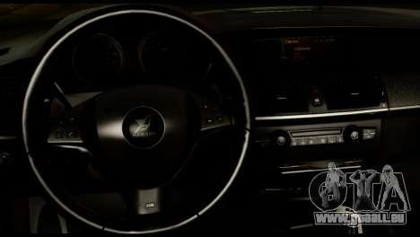 BMW X6 Hamann pour GTA San Andreas vue de droite