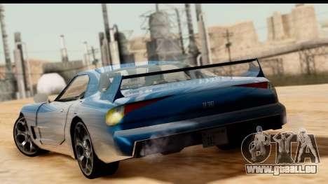 New ZR-350 (ZR-380) v1.0 pour GTA San Andreas laissé vue