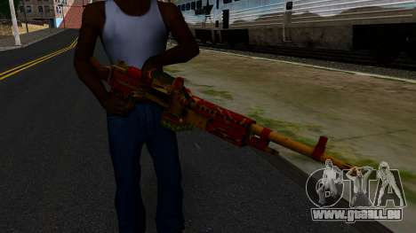 Christmas Minigun für GTA San Andreas dritten Screenshot