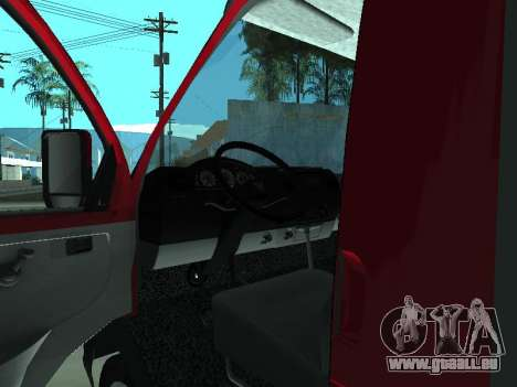 GAZel 3302 für GTA San Andreas Rückansicht