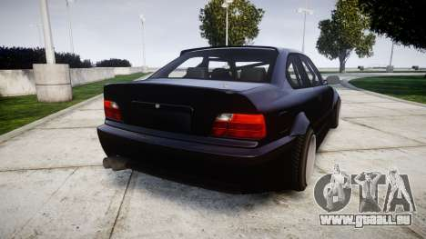 BMW E36 M3 Duck Edition pour GTA 4 Vue arrière de la gauche