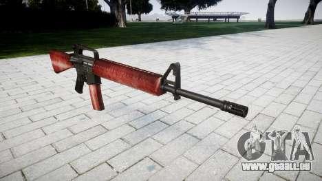 Le M16A2 fusil rouge pour GTA 4