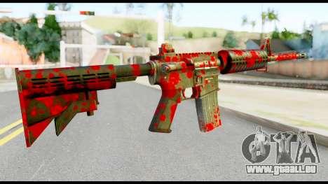 M4 with Blood für GTA San Andreas zweiten Screenshot