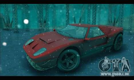 Vapid Bullet Gt (GTA IV) (Stickers Edition) für GTA San Andreas Rückansicht