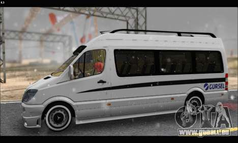 Mercedes Benz Sprinter Okul Tasiti V2 pour GTA San Andreas laissé vue