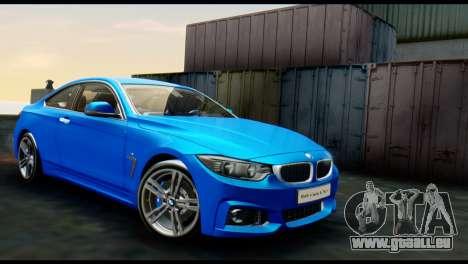 BMW 4-Series Coupe M Sport 2014 für GTA San Andreas
