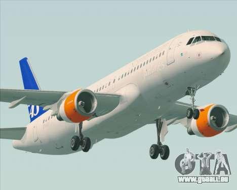 Airbus A320-200 Scandinavian Airlines - SAS für GTA San Andreas Räder