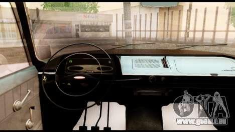 Moskvitch 408 pour GTA San Andreas vue arrière
