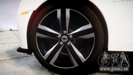 Chevrolet Camaro ZL1 2012 Redline pour GTA 4 Vue arrière
