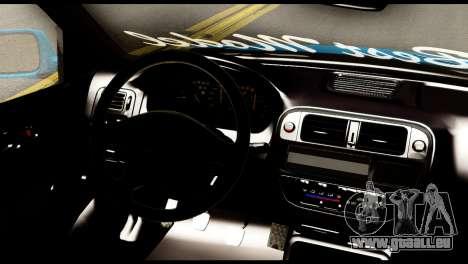 Honda Civic Hatcback O. B. Construction pour GTA San Andreas sur la vue arrière gauche