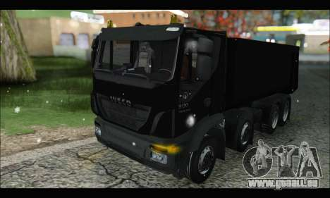Iveco Trakker 2014 Tipper Snow (IVF & ADD) für GTA San Andreas