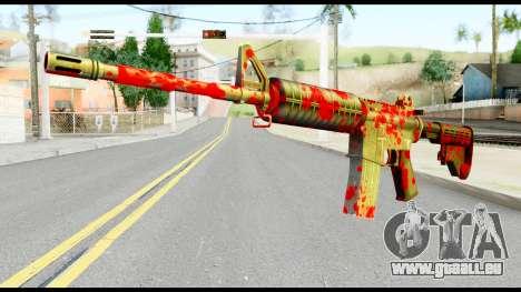 M4 with Blood für GTA San Andreas